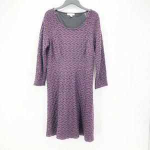 New York & Company Women Dress Purple Scoop Neck M